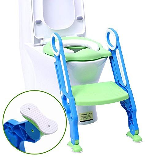 Potty Chair Portable Potty Training Seat For Toddler Toilet Seat With Ladder For Boys And Girls Soft Cush Toddler Toilet Seat Potty Chair Potty Training Seats
