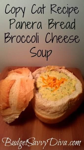 copy cat recipe panera bread broccoli cheese soup: