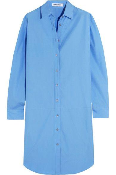 JIL SANDER Cotton-Poplin Shirt Dress. #jilsander #cloth #dresses