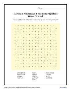 Freedom Fighter's Word Search | Word Search, Word Search Puzzles and ...