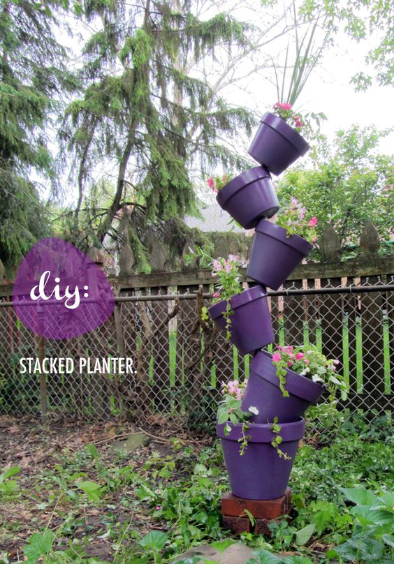 Diy Stacked Planter Stuff Steph Does Diy 400 x 300