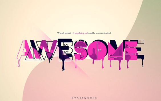 Awesome: 29 Awesome, Ovo Type, Type Transformations, Quotes Fun, Typography Design, Dvartworks Deviantart, Typographic Transformations, Typography Love, Typographic Design