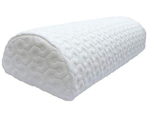 Joeys Room Half Moon Pillow Bolster Leg Elevation Lower Back Knee Support Side Sleeper Honeycomb Heavyweight Washable Cover Bolster Pillow Half Moon Pillows