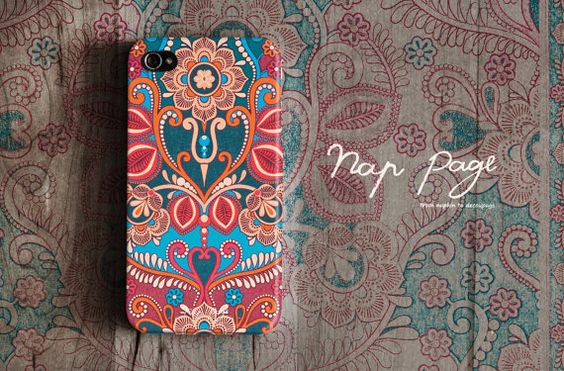 Apple iphone case for iphone iphone 4 iphone 4s iphone 3Gs : Vintage Indian Floral Design. $19,90, via Etsy.