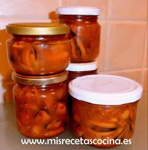 Mejillones en Escabeche hechos con Thermomix en conserva.