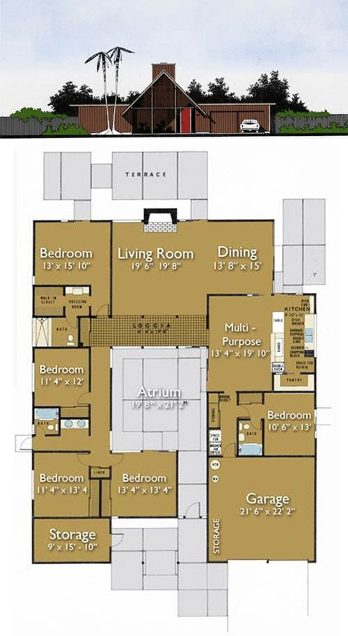 Build An Eichler Ranch House 8 Original Design House