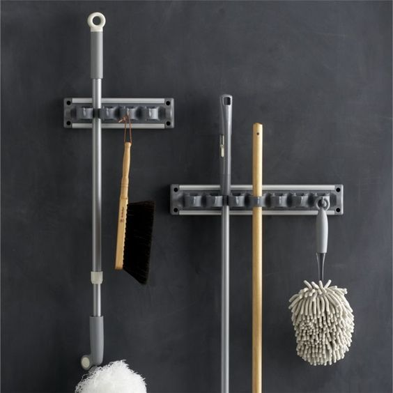 """We've partnered with the """"beautiful house"""" experts at Casabella® to bring you our exclusive curated line of household cleaning essentials.  For the smartest utility storage, this ingeniously designed gripper in our exclusive grey holds up to 13 cleaning tools, cloths, garden implements and more in a minimum of space.  Soft rubber grips hold items securely while allowing easy placement and removal."""