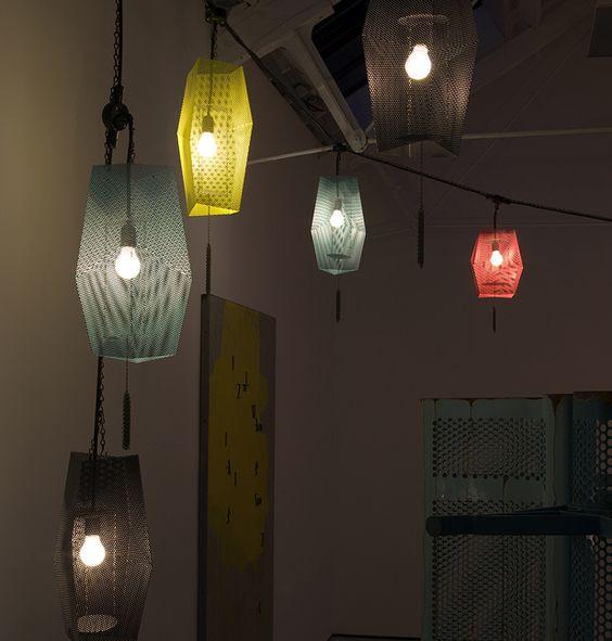 Martin Boyce: Night terrace – lantern chains – forgotten seas – sky