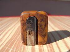 Art Deco doppelseitiger Bleistiftanspitzer Horn Anspitzer 1930 pencil sharpener
