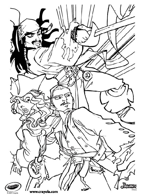 Disney Pirates Of The Caribbean Jack Sparrow On Crayola Com Pirate Coloring Pages Monster Coloring Pages Coloring Pages