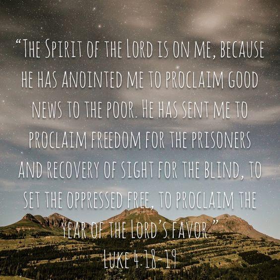 Like 4:18-19. Theme verse