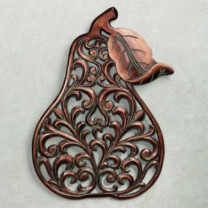 Pears metal trivet or wall art - I'd like to try a similar design with paper.