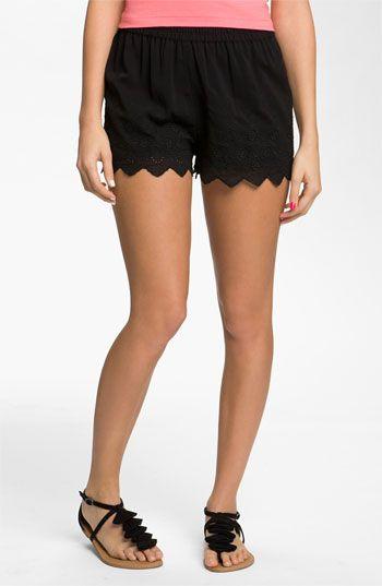 Frenchi® Eyelet Shorts (Juniors) | Nordstrom