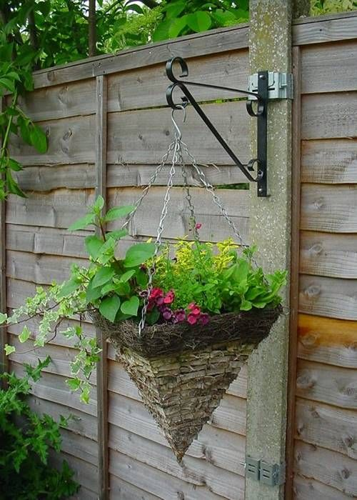 Plant Bracket Hanging A Cone Potted Flower Hanging Plants On Fence Plant Bracket Plants