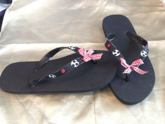 Baseball, soccer, dandelions, etc. Hand Painted Flip Flops with your choice of designs