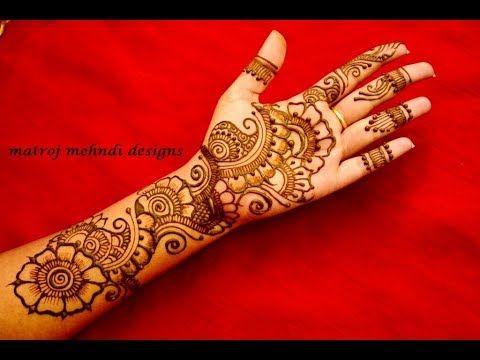 Latest Arabic Mehndi Designs For Full Hands Simple Arabic Henna