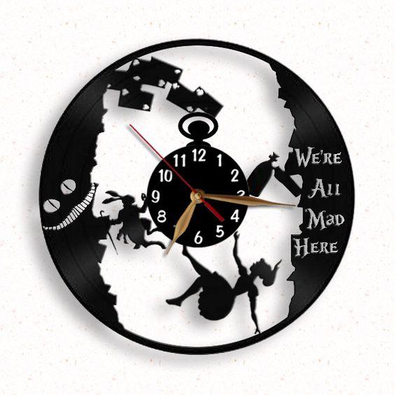 Alice Im Wunderland Vinyl Uhr Wanduhr Vinyls And Products