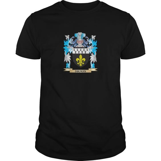 Dikman Coat of Arms - Family Crest - Perfect for Dikman family reunions or those proud of their family Dikman heritage.  Thank you for visiting my page. Please share with others who would enjoy this shirt. (Related terms: Dikman,Dikman coat of arms,Coat or Arms,Family Crest,Tartan,Dikman surname,...)