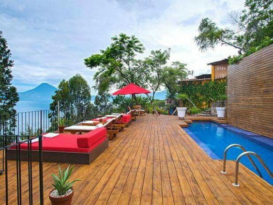 Casa Palopo microboutique hotel in Santa Catarina village overlooking 1000ft deep Lake Atitlan in beautiful Guatemala.