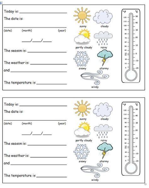 Pin On Kumpulan Contoh Weather math worksheets preschool