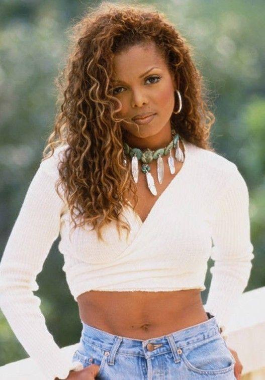 Strange Janet Jackson Long Curly Hairstyles And Long Curly On Pinterest Short Hairstyles Gunalazisus
