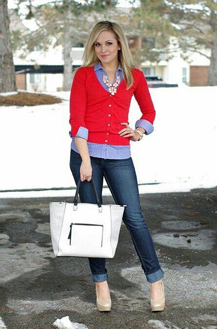 Sueter Rojo | outfits | Pinterest | Bu00fasqueda