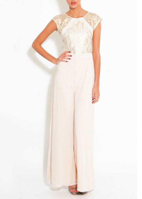 Beyoncé's Bridal Jumpsuit + 12 Wedding-Worthy One-Pieces via Brit + Co.