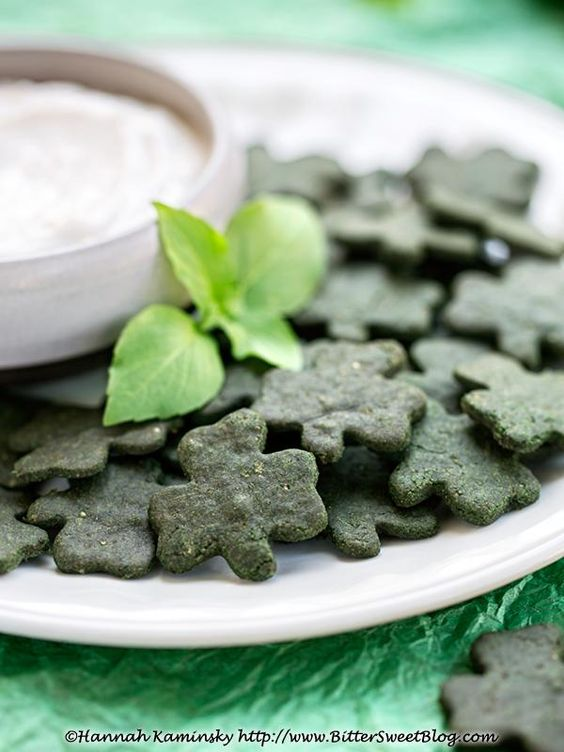 Gluten-Free Minted Pea Crackers:
