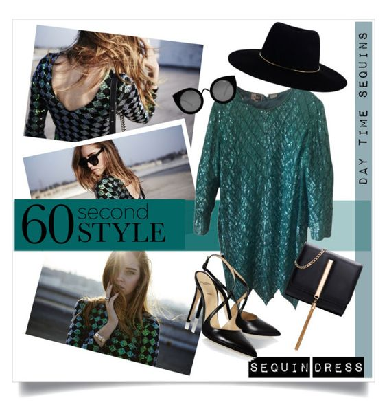 """60 Second Style: Daytime Sequins"" by kat79 ❤ liked on Polyvore featuring Alexander White, Zimmermann, Quay and plus size dresses"