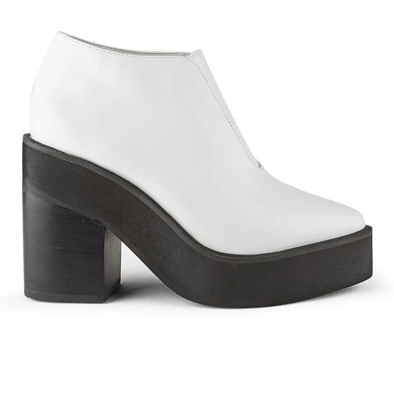 <p>Fusing high fashion with wearability, Sol Sana present the women's 'Wyatt' platform ankle boots. Chunky and modern, the monochrome ankle boots feature a white leather upper with gusset detail to the front. For a striking aesthetic, the boots are set upon a contrasting black sole with a chunky platform and four inch heel. - K.N.</p> <ul> <li>Sol Sana women's Wyatt Leather Platform Ankle Boots</li> <li>Material: Upper and Lining: Leather. Sole: Rubber</li> <li>White ...