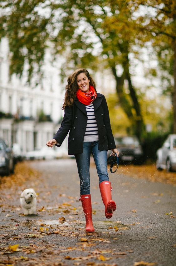 Red Rain Boots - The Londoner: