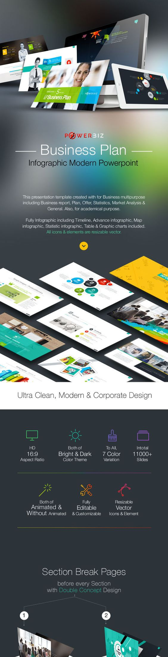change colour presentation templates and infographic business plan report infographic multipurpose powerpoint presentation powerbiz clean creative and modern presentation