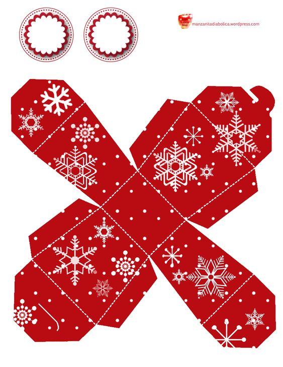 moldes de cajitas para Navidad - Buscar con Google Navidad