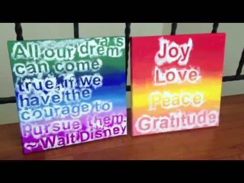 DIY Easy Canvas Art - YouTube