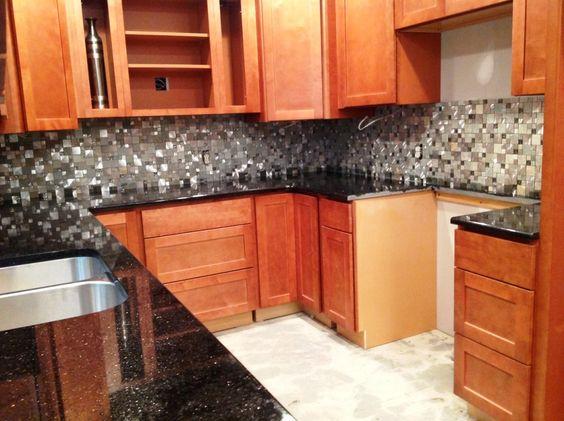 Countertops mosaic tiles slate granite kitchen cabinets countertops