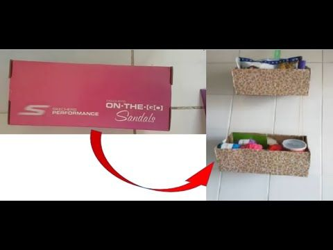 How To Reuse Waste Shoe Boxes Best Out Of Waste Empty Cardboard Boxes Cardboard Box Crafts Cardboard Box Diy Cardboard