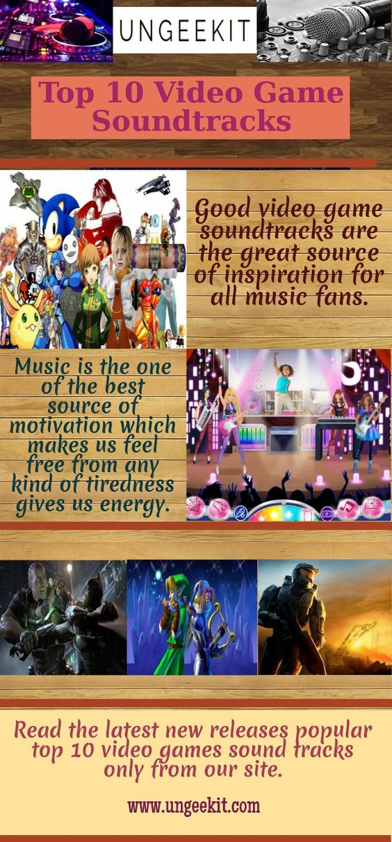 There are number of top 10 video game soundtracks available online that are very easy to use because from these games you can choose your own instruments that you like and can play the different sounds. For more visit here: https://goo.gl/XZnQf3