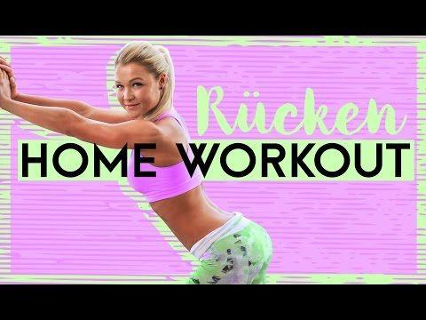 Rücken Home Workout - Anfänger und Fortgeschrittene - Sophia Thiel - YouTube