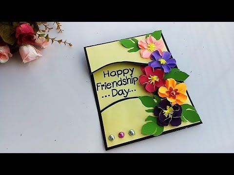 How To Make Friendship Special Card Diy Gift Idea Youtube