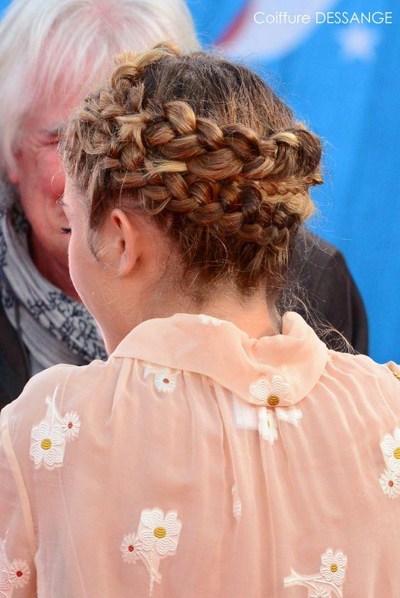 """Alice Isaaz, coiffée d'une double couronne tressée, était splendide pour la première de """"Ruth and Alex"""" au Festival de Deauville. Un véritable défilé de glamour... #AliceIsaaz #DESSANGE #Deauville2015 #CoiffeurOfficiel"""