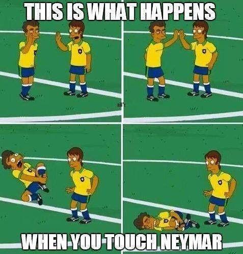 Neymar Worldcup Loser So So Soooo True He S A Baaabbbyyyyy But A Cute One Funny Football Memes Funny Soccer Memes Soccer Jokes