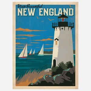 New England Print 18x24 now featured on Fab.