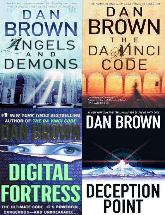 Angels and Demons, The Da Vinci Code, Digital Fortress, The Lost Symbol, Deception Point - Dan Brown