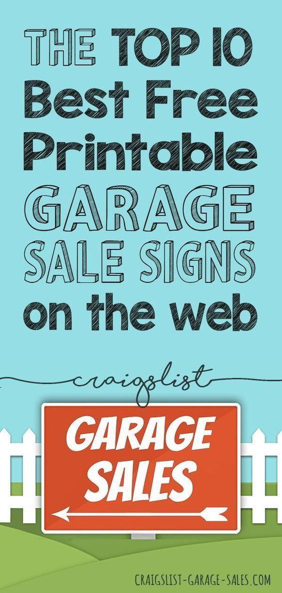 Free Printables Garage Sale Signs Price Tags Garage Sale