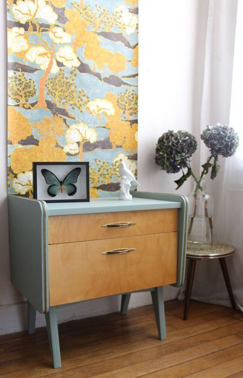 Un appartement style années 50 | Décoration inspirée par les années 50 | #maison, #décoration, #luxe | Plus de nouveautés sur http://magasinsdeco.fr/appartement-style-annees/