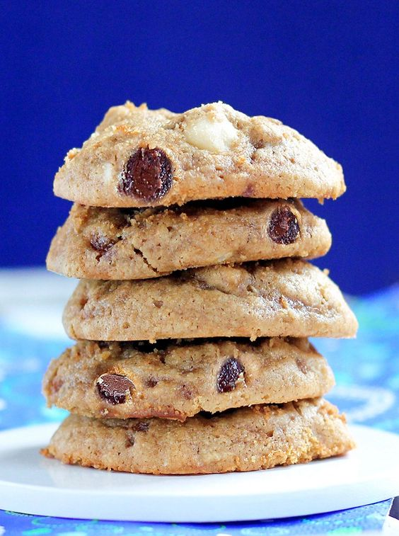 I've made this healthier chocolate-chip cookie recipe about a hundred times now, and not one single person can tell the difference between these and the cookies that are loaded with fat and sugar!