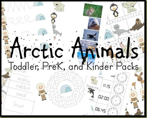 Arctic Animal Printable Packs