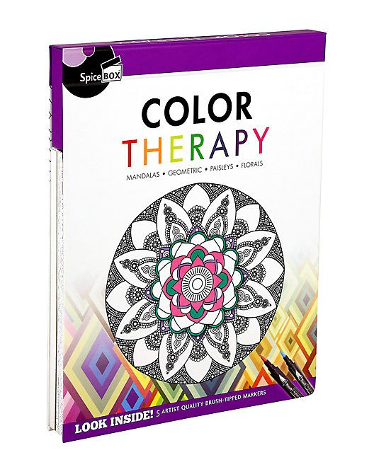 Spicebox Art Therapy Color Therapy Sponsored Art Sponsored Spicebox Color Color Therapy Meditative Coloring Spice Box