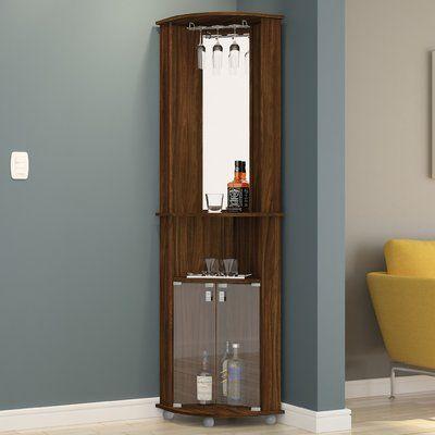 Ebern Designs Oblak Corner Bar Cabinet In 2020 Corner Bar