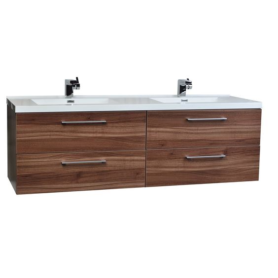 """Camino 67"""" Modern Double Vanity Set Wall Mount (Free Shipping)"""
